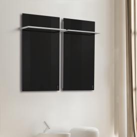 Wodtke feel warm Infrarotheizung-Set mit Handtuchhalter schwarz, 470 Watt