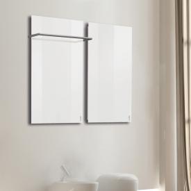 Wodtke feel warm Infrarotheizungs-Set mit Handtuchhalter weiß, 470 Watt