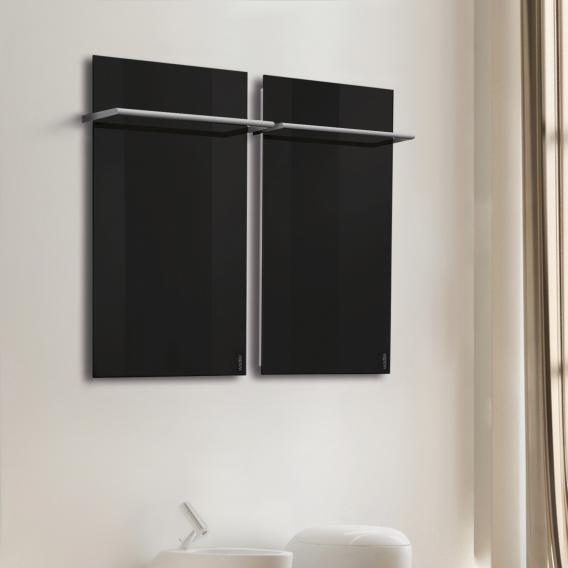 Wodtke feel warm Infrarotheizungs-Set mit Handtuchhalter schwarz, 470 Watt