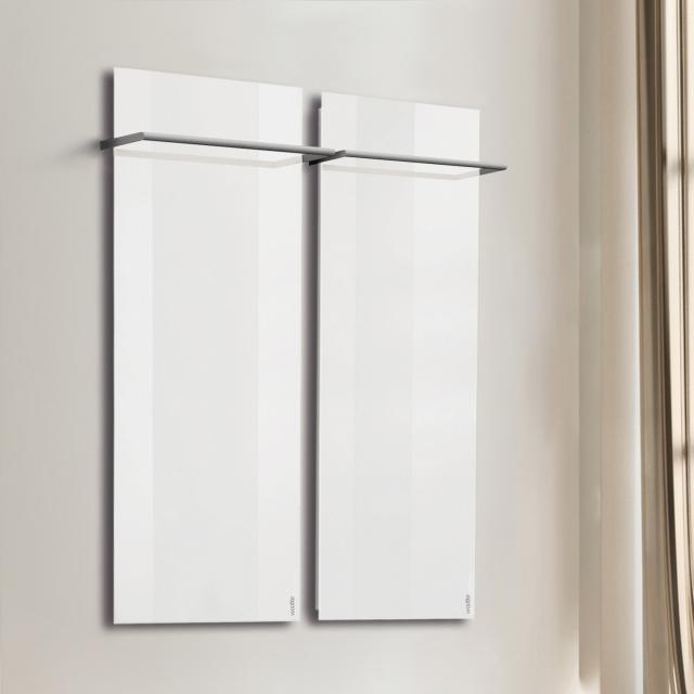 Wodtke feel warm Infrarotheizungs-Set mit Handtuchhalter weiß, 850 Watt