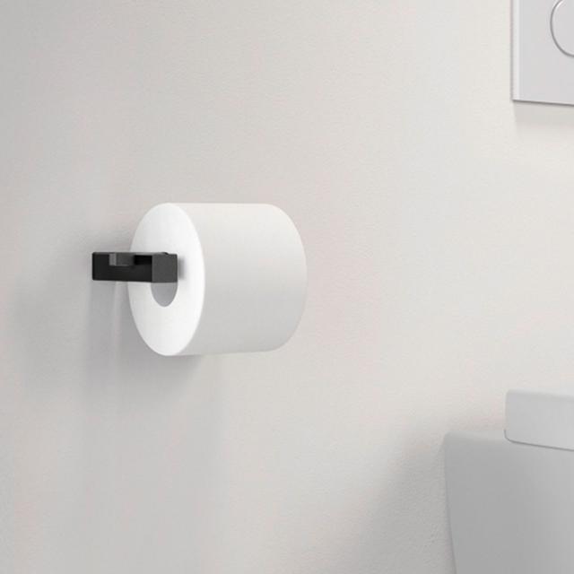 Zack CARVO Toilettenpapierhalter schwarz