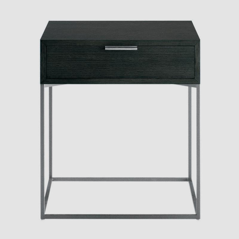 Nachttisch mit schublade  Zanotta 642 Oscar Nachttisch mit Schublade - 642#graphit/grau ...
