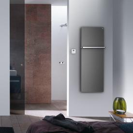 Zehnder Fina Bar Badheizkörper für rein elektrischen Betrieb grau aluminium, 450 Watt