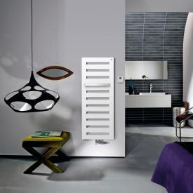 Zehnder Metropolitan Bar Badheizkörper für Mischbetrieb mit eingebautem Heizstab weiß, 563 Watt, 500 Heizstab
