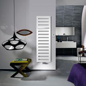 Zehnder Metropolitan Bar Badheizkörper für Mischbetrieb mit eingebautem Heizstab weiß, 730 Watt, 600 Heizstab