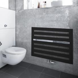Zehnder Metropolitan Bar Badheizkörper für Warmwasserbetrieb volcanic, 517 Watt, Montage unter Fenster