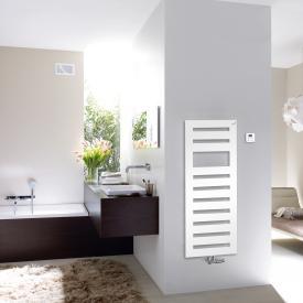 Zehnder Metropolitan Spa Badheizkörper für Mischbetrieb mit eingebautem Heizstab weiß, 561 Watt, 500 W Heizstab