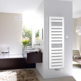 Zehnder Metropolitan Spa Badheizkörper für Mischbetrieb mit eingebautem Heizstab weiß, 889 Watt, 900 W Heizstab