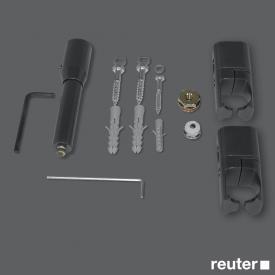 Zehnder Raumteiler-Montagezubehör mit Fußstütze für Toga elektrisch anthrazit