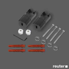 Zehnder Raumteiler-Montagezubehör ohne Fußstütze für Toga anthrazit