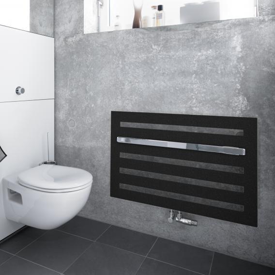Zehnder Metropolitan Bar Badheizkörper für Warmwasserbetrieb volcanic, 447 Watt, Montage unter Fenster
