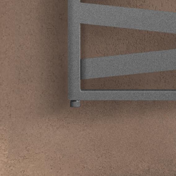 Zehnder Ribbon Badheizkörper für rein elektrischen Betrieb grau aluminium, 600 Watt