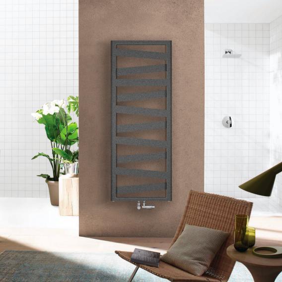 Zehnder Ribbon Badheizkörper für Warmwasser- oder Mischbetrieb anthrazit, 743 Watt