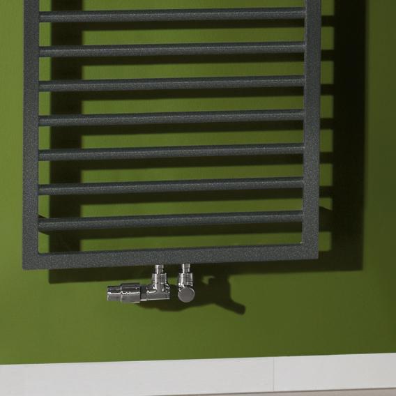Zehnder Subway Badheizkörper für reinen Warmwasserbetrieb anthrazit, 772 Watt