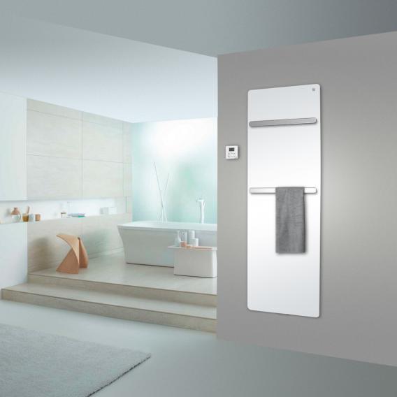 Zehnder Vitalo Bar Badheizkörper für rein elektrischen Betrieb weiß, 1000 Watt
