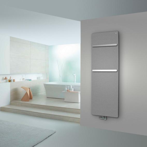 Zehnder Vitalo Bar Badheizkörper für Warmwasserbetrieb grau aluminium, 994 Watt
