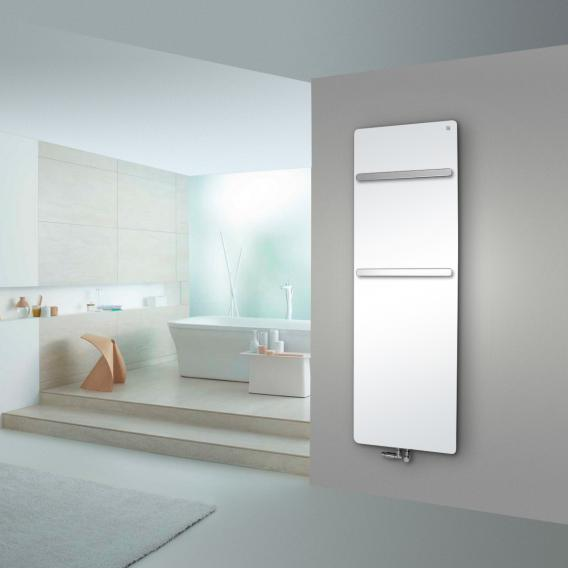 Zehnder Vitalo Bar Badheizkörper für Warmwasserbetrieb weiß, 994 Watt