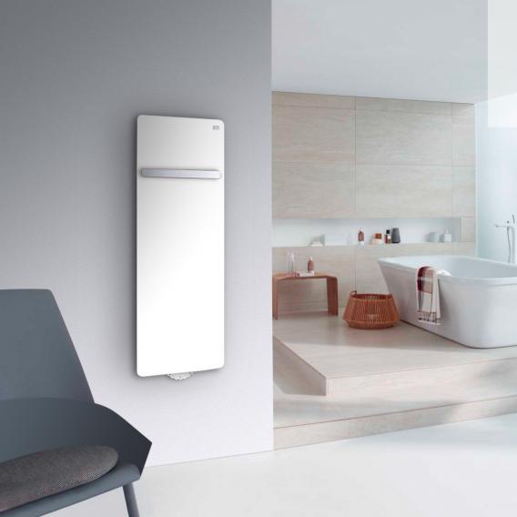 Zehnder Vitalo Bar Badheizkörper mit EasyFit Anschlussbox für Warmwasserbetrieb weiß, 465 Watt