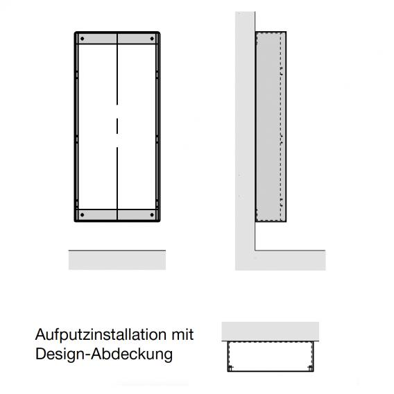 Zehnder Zenia Wärmekomfortgerät für Aufputz, rein elektrisch weiß, Anschlag rechts