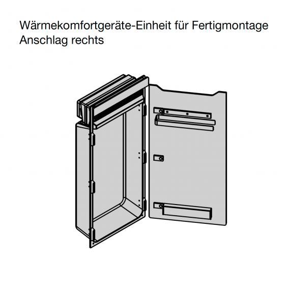 Zehnder Zenia Wärmekomfortgerät für Fertigmontage weiß, Anschlag rechts