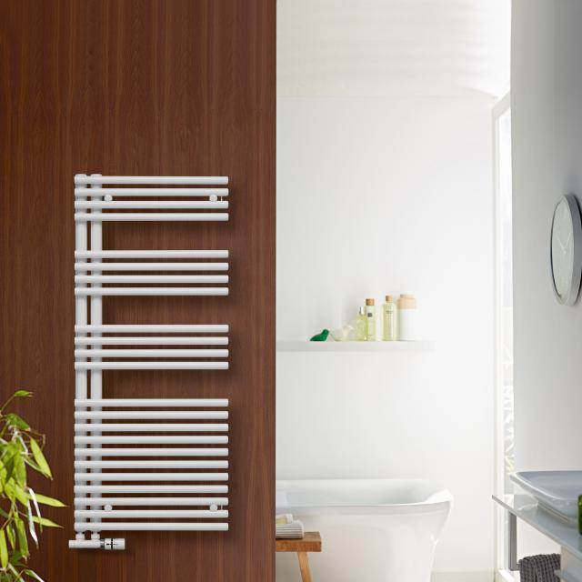 Zehnder Forma Asym Badheizkörper für Warmwasser- oder Mischbetrieb weiß, 547 Watt, rechts