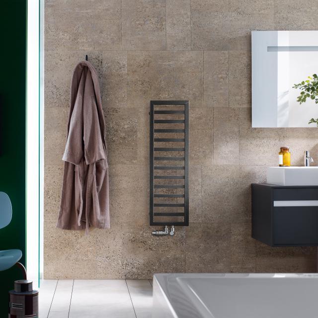 Zehnder Quaro Badheizkörper für Warmwasser- oder Mischbetrieb volcanic, 299 Watt