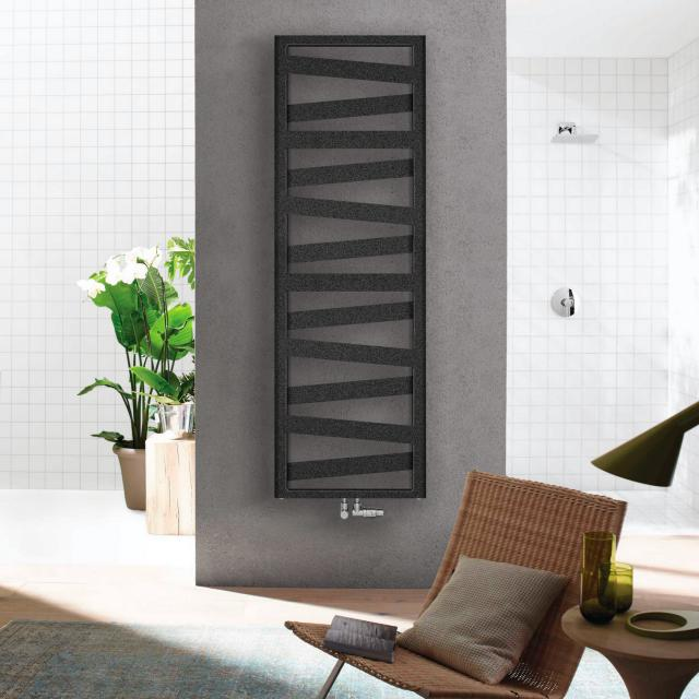 Zehnder Ribbon Badheizkörper für Warmwasser- oder Mischbetrieb volcanic, 847 Watt