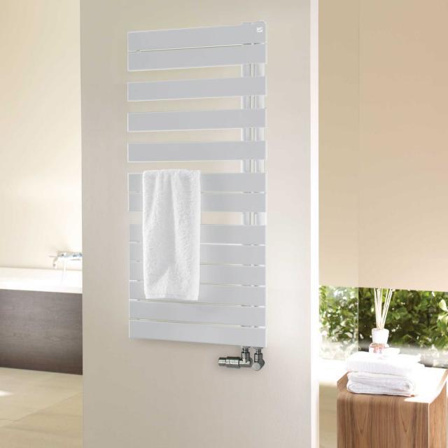 Zehnder Roda Spa Asym Badheizkörper für Warmwasserbetrieb weiß, 594 Watt, rechts