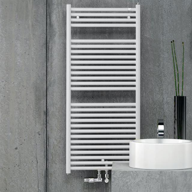 Zehnder Troja Badheizkörper für Warmwasser- oder Mischbetrieb weiß, 347 Watt