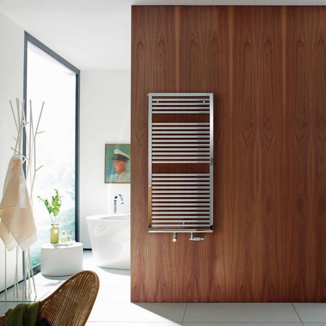 Zehnder Universal Badheizkörper für Warmwasser- oder Mischbetrieb chrom, einlagig, 515 Watt