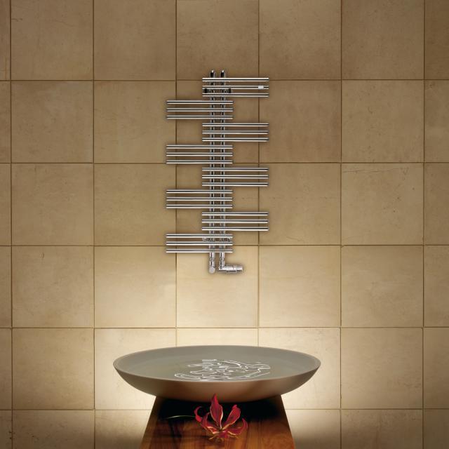 Zehnder Yucca Badheizkörper für Warmwasser- oder Mischbetrieb chrom, einlagig, 225 Watt