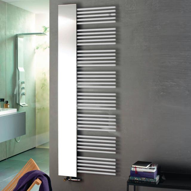 Zehnder Yucca Mirror Badheizkörper mit Spiegel für Warmwasser- oder Mischbetrieb weiß, 755 Watt