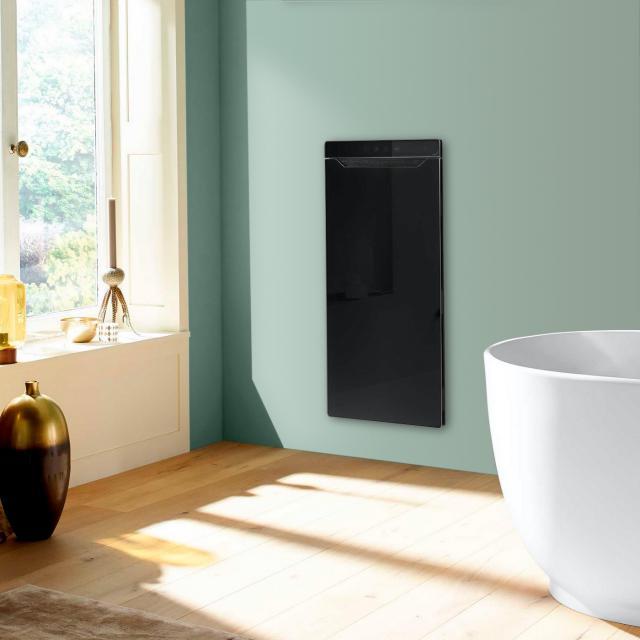 Zehnder Zenia Wärmekomfortgerät für Unterputz, rein elektrisch schwarz, Anschlag links