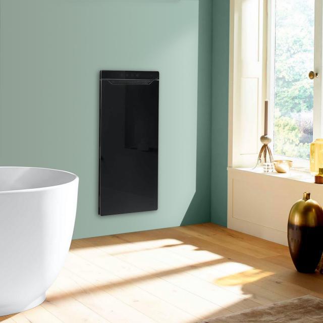 Zehnder Zenia Wärmekomfortgerät für Unterputz, rein elektrisch schwarz, Anschlag rechts