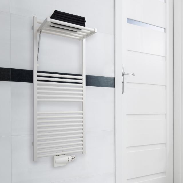 Zehnder Zeno Wing Badheizkörper für Warmwasser- oder Mischbetrieb weiß, 372 Watt