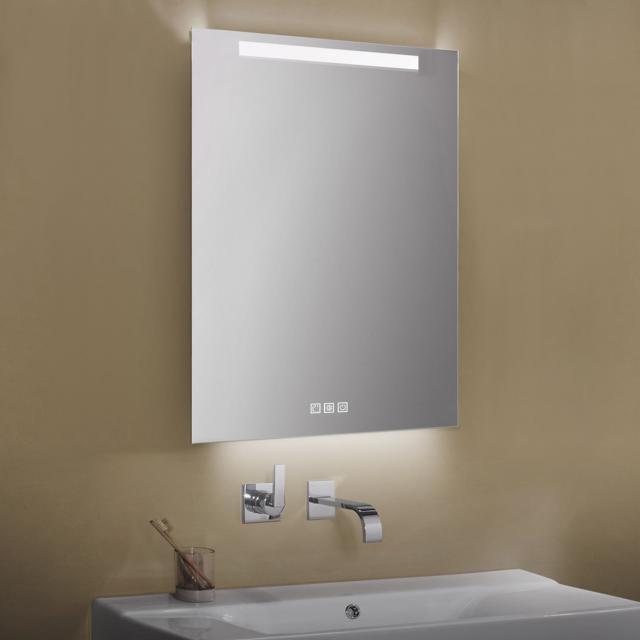 Zierath Garda Lichtspiegel mit LED-Beleuchtung mit Touch-Display, Lichtfarbe einstellbar