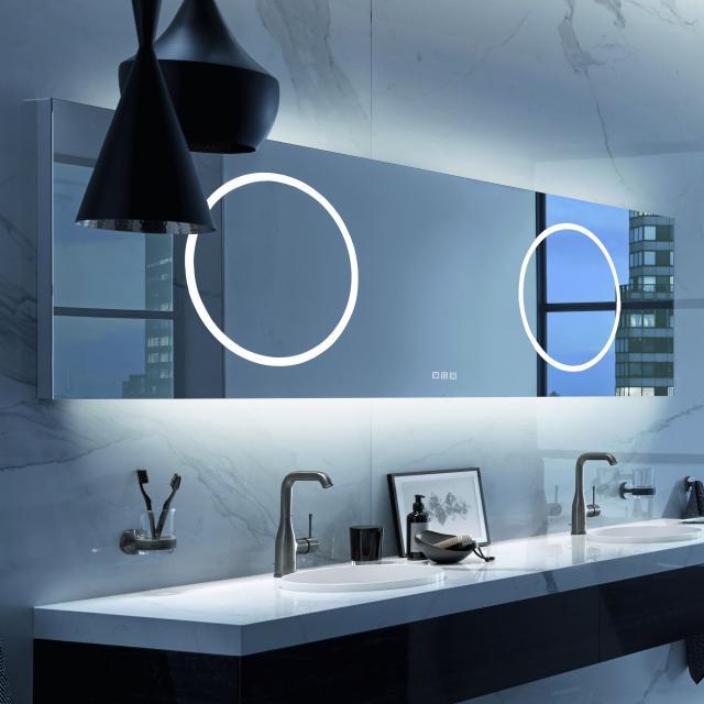 Zierath Moon For Two Lichtspiegel mit LED-Beleuchtung mit Touch-Display