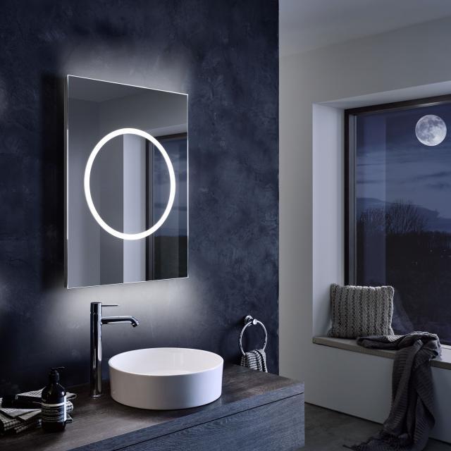Zierath Moon Lichtspiegel mit LED-Beleuchtung mit Sensorschalter