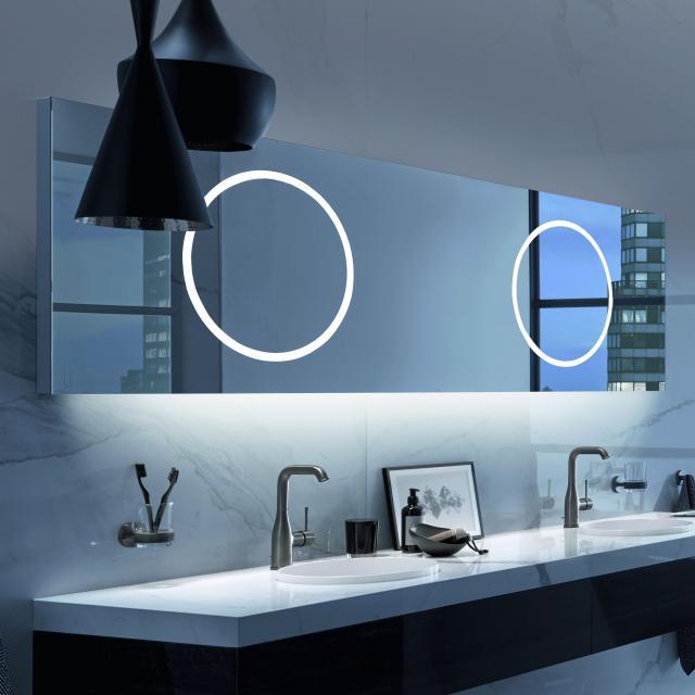 Zierath Moon Pro 2.0 For Two Premium Lichtspiegel mit LED-Beleuchtung