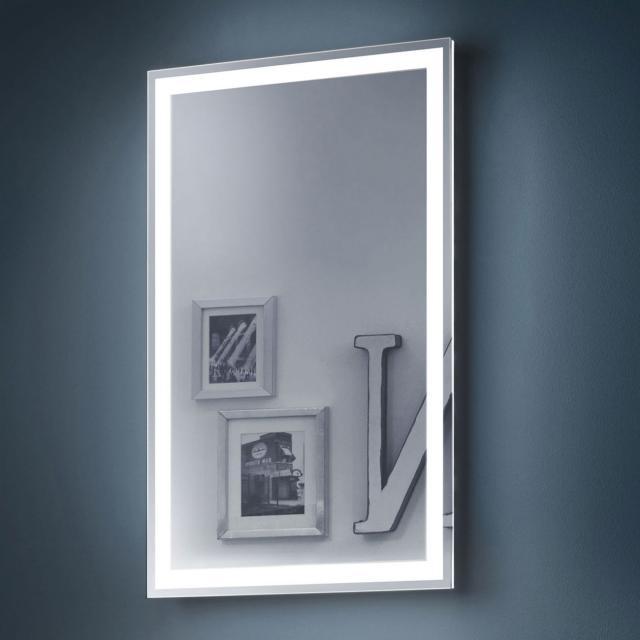 Zierath Visibel Lichtspiegel mit LED-Beleuchtung für Raumschaltung, Lichtfarbe warmweiß