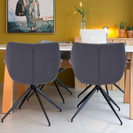 Zuiver Doulton Stuhl mit Armlehnen 2er Set