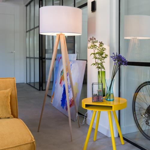 zuiver tripod wood stehleuchte 5000806 reuter. Black Bedroom Furniture Sets. Home Design Ideas