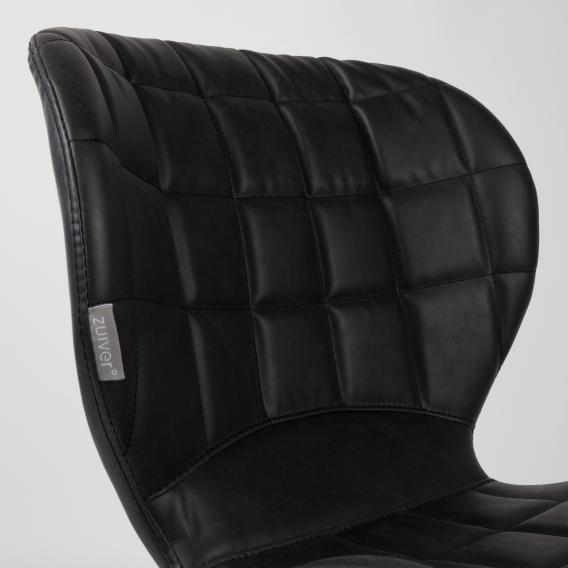 Zuiver OMG LL Stuhl B: 510 H: 800 T: 560 mm, schwarz/vintage vintage braun 1100253
