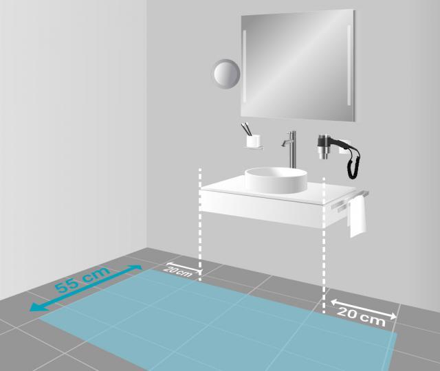 Badezimmerspiegel Hohe.Masse Beim Waschtisch Hohe Abstande Bewegungsflache